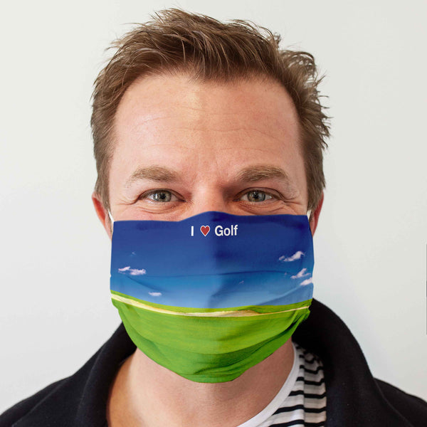 Cloth Face Mask for Golfers: I love Golf