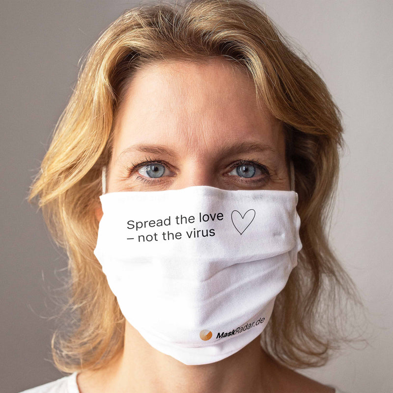 Cloth Face Mask: Mask Radar - Spread the love, not the virus
