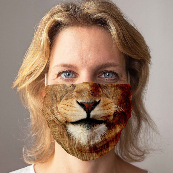 Cloth Face Mask: Lion