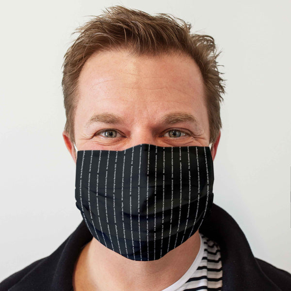 Cloth Face Mask: Pinstripe business look (German)
