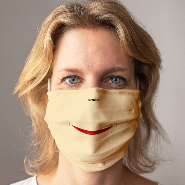 Cloth Face Mask: Smile