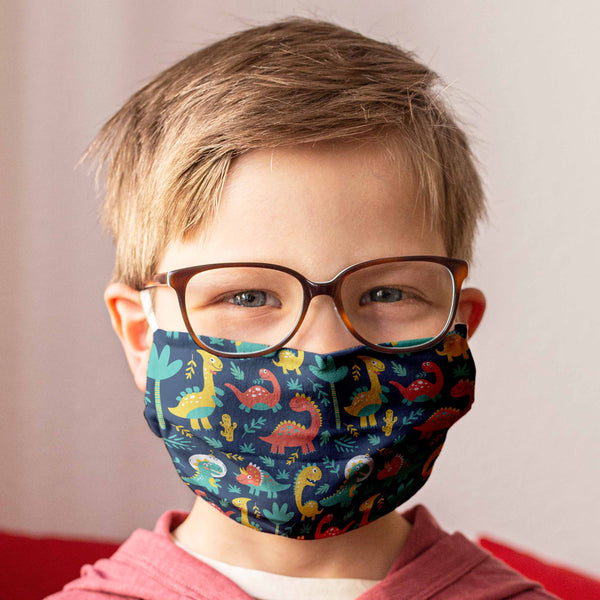 Cloth Face Mask for Children: Dinosaurs