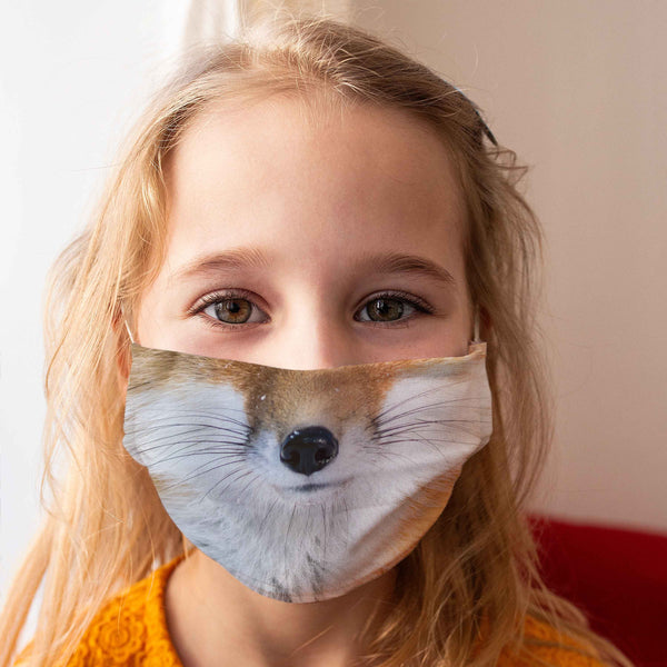 Cloth Face Mask for Children: Fox