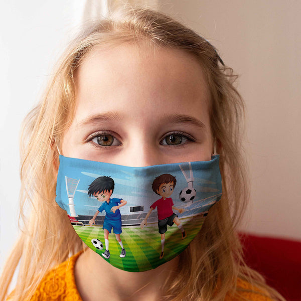 Cloth Face Mask for Children: Football