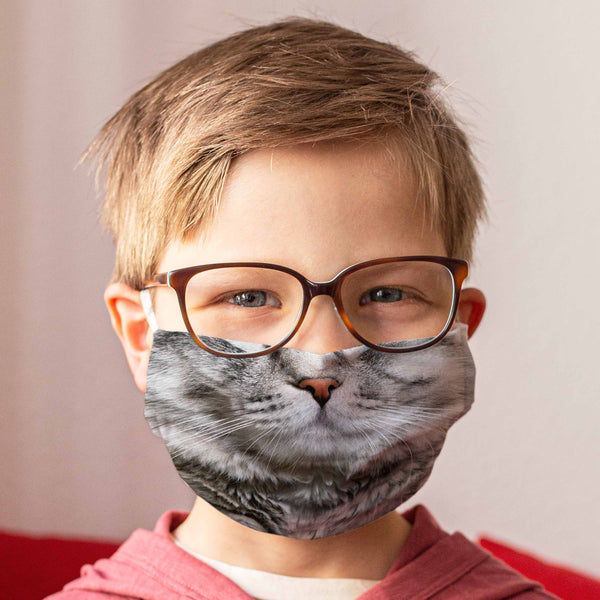 Community Face Mask for Children: Cat