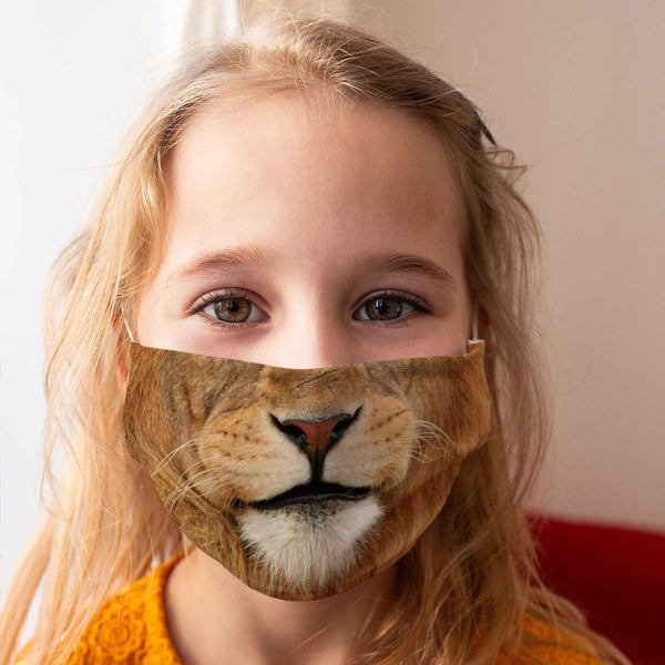 Cloth Face Mask for Children: Lion
