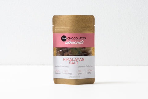 Chocolate Covered Almonds with Himalayan Salt