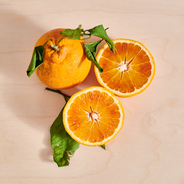 Leafy Tarocco Fire Blood Oranges