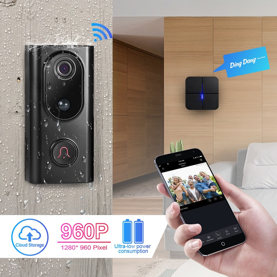 KERUI L16 1.3mp 960P Video Intercom Smart Wireless IP Wifi Doorbell Camera Security Phone Waterproof Cloud Storage For Home
