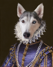 Load image into Gallery viewer, The Purple Dress Princess- Digital copy - Pawtrait.dxb