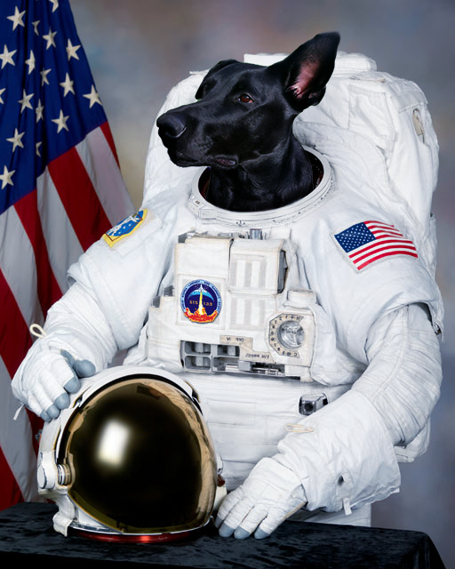 The Real First Astronaut - Premium Canvas - Pawtrait.dxb