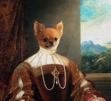 Load image into Gallery viewer, The Queen of Love - Digital copy - Pawtrait.dxb