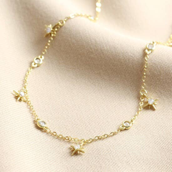 Crystal Star Charm Choker Necklace - Luminous Soul LLC