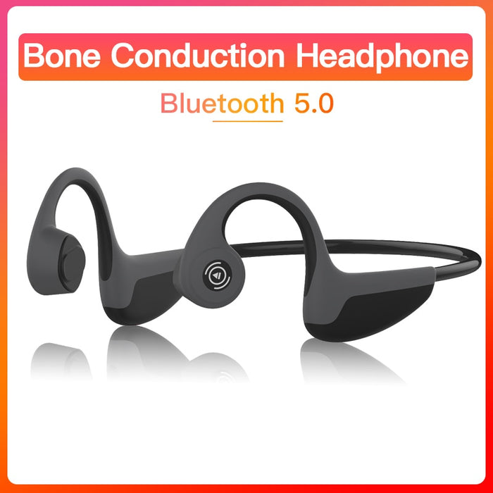 Bluetooth 5.0  Z8s Wireless Headphones Bone Conduction Earphone Outdoor Sport Headset with Microphone Handsfree Headsets