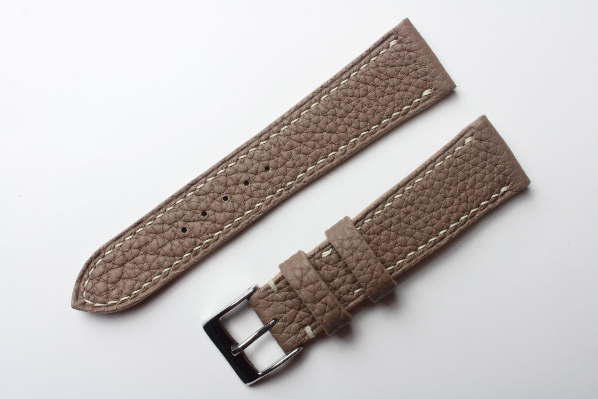 Shrunken Calf Leather Strap in Taupe - Artisan Straps