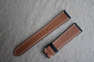 Epsom French Calf Leather Strap in Black - Artisan Straps