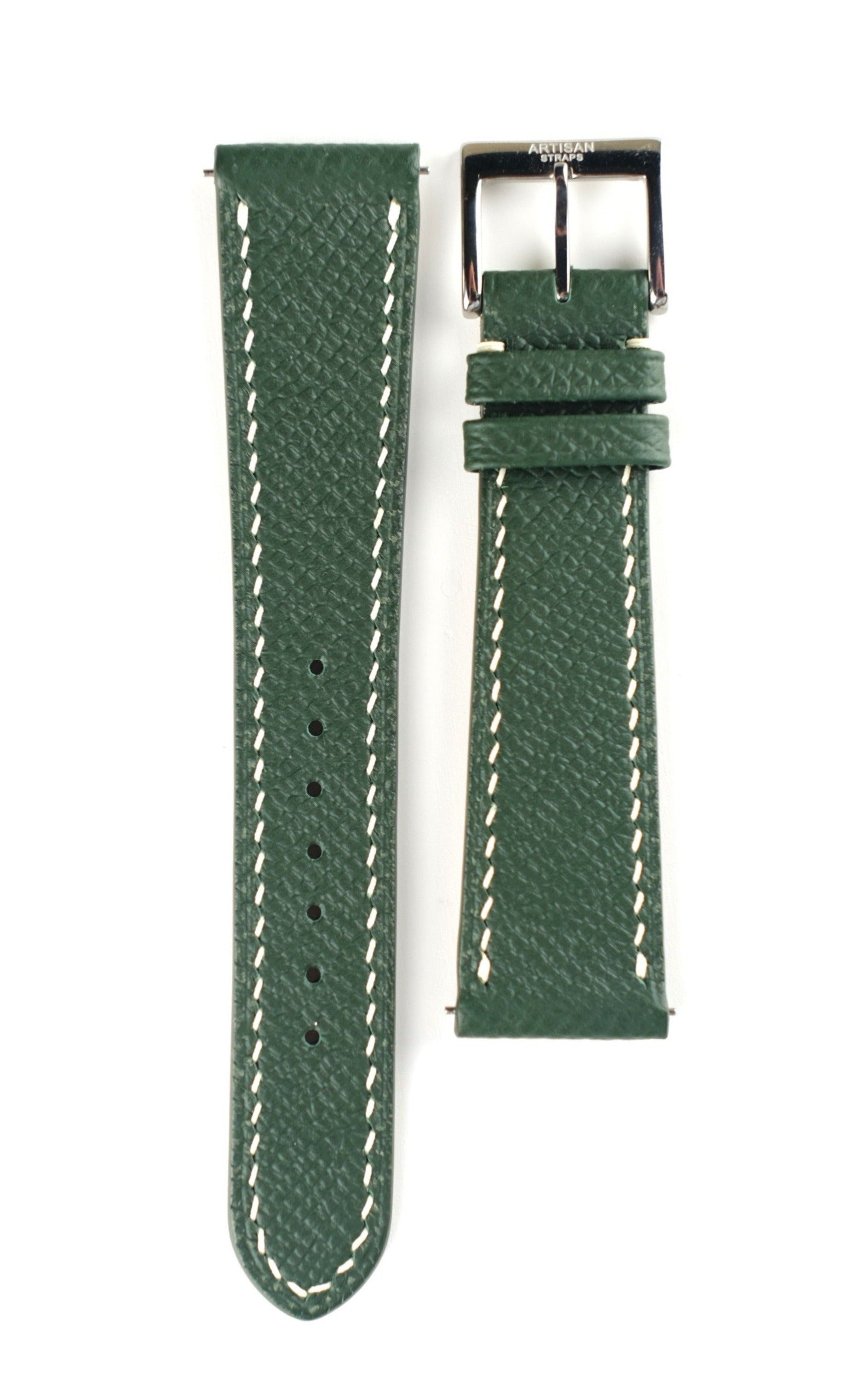 Forest Green Epsom Calf Leather Strap - Artisan Straps