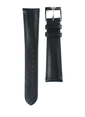 Black Padded French Calf Leather Strap - Artisan Straps