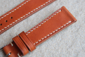 Italian Calf Smooth Leather Strap in Olmo - Artisan Straps