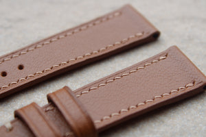 Chevre (French Goat) Leather Strap in Tan - Artisan Straps