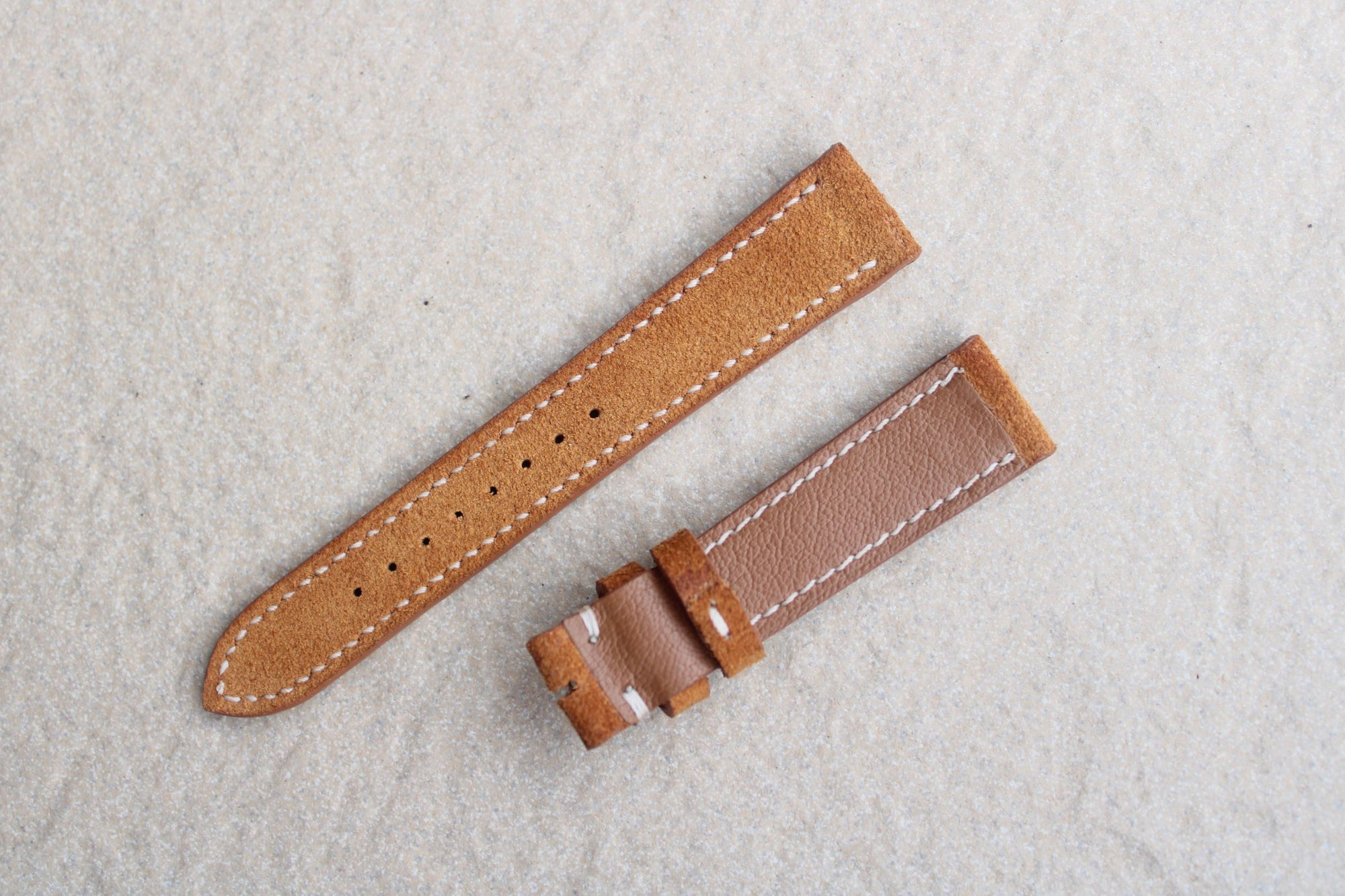Suede Leather Strap in Tan - Artisan Straps