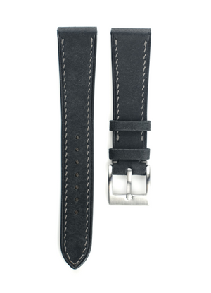 Pueblo Leather Strap in Black - Artisan Straps