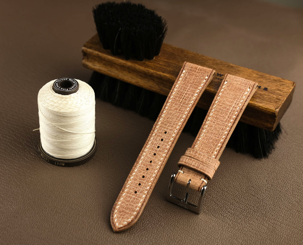 "Babele ""Linen"" Italian Calf Leather Strap in Natural"