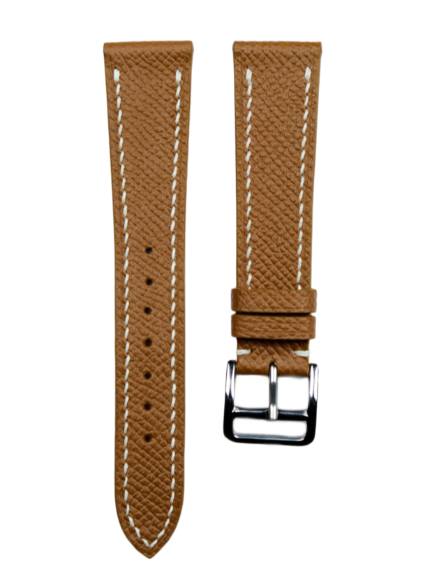 Epsom French Calf Leather Strap in Tan - Artisan Straps
