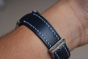 Kangaroo Leather Strap in Navy - Artisan Straps