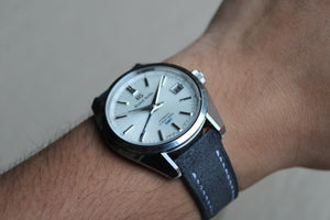 Suede Leather Strap in Deep Grey - Artisan Straps