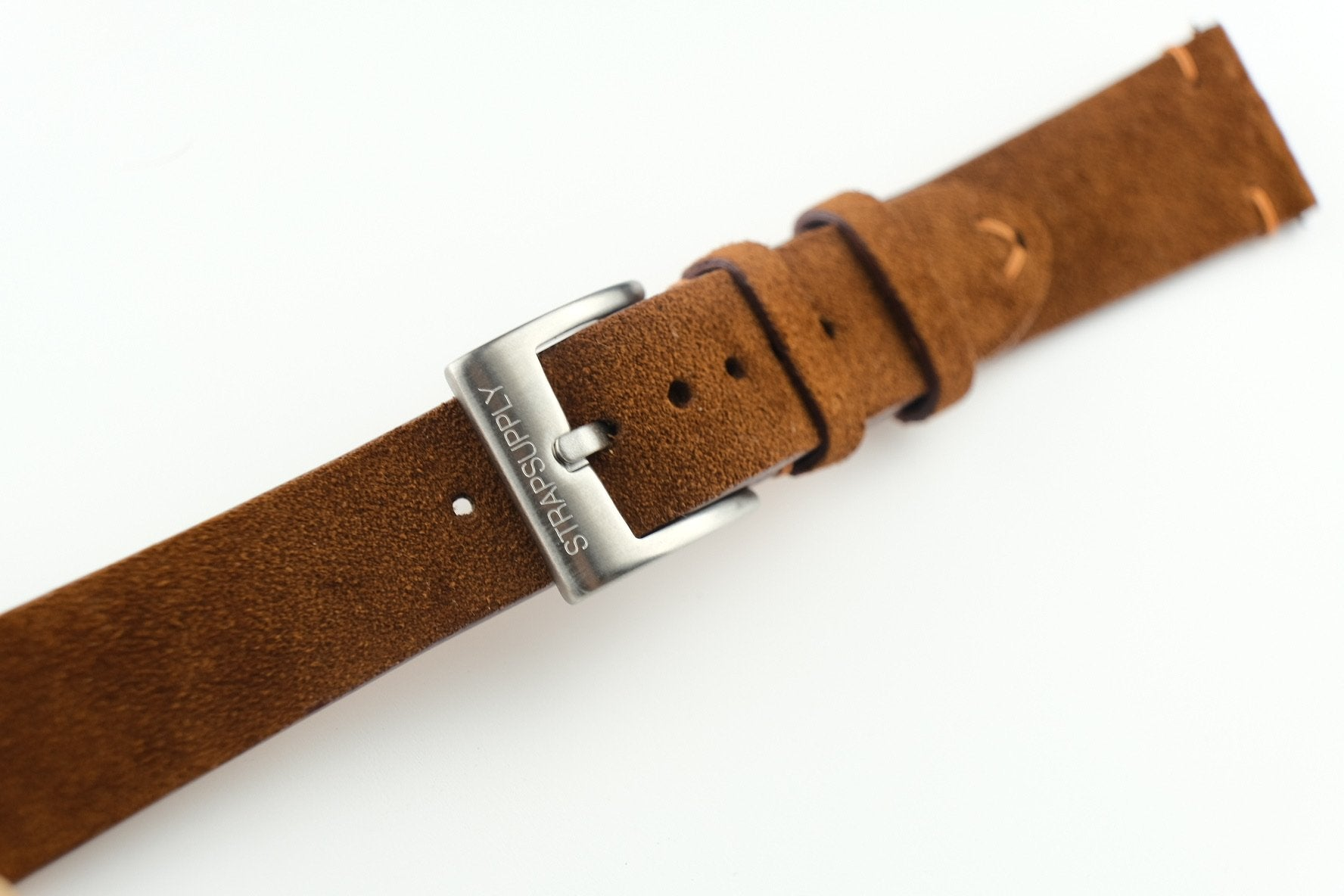 Brown Two-Stitch Suede Strap - Artisan Straps