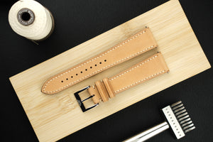 Buttero Italian Calf Leather Strap in Natural - Artisan Straps