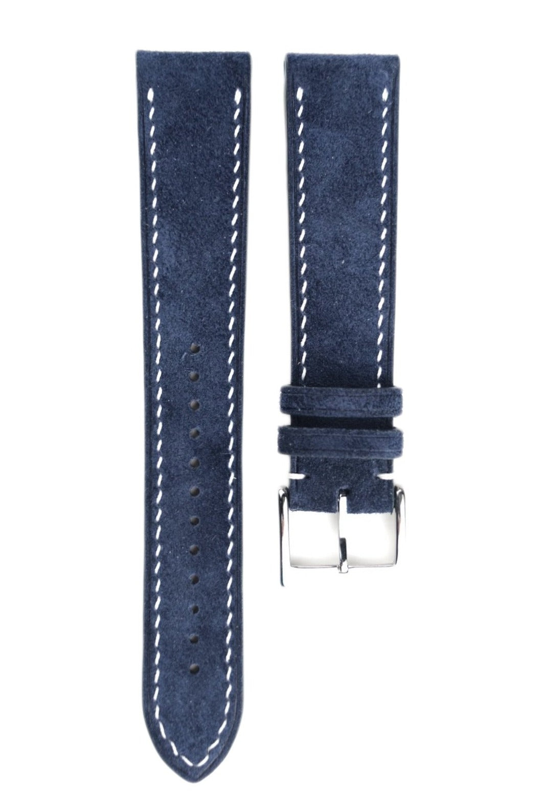 Suede Leather Strap in Navy - Artisan Straps