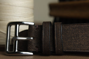 Habana Minimalist Leather Strap in Dark Brown - Artisan Straps