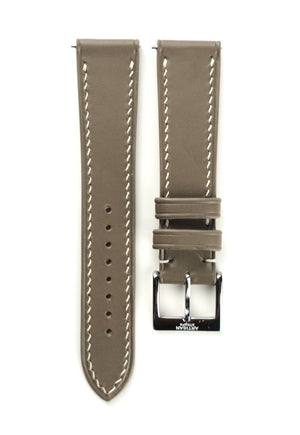 Buttero Italian Calf Leather Strap in  Taupe - Artisan Straps
