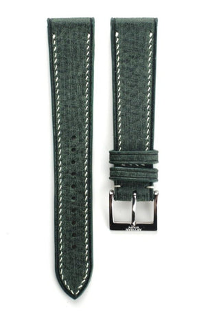 "Babele ""Linen"" Italian Calf Leather Strap in Green"