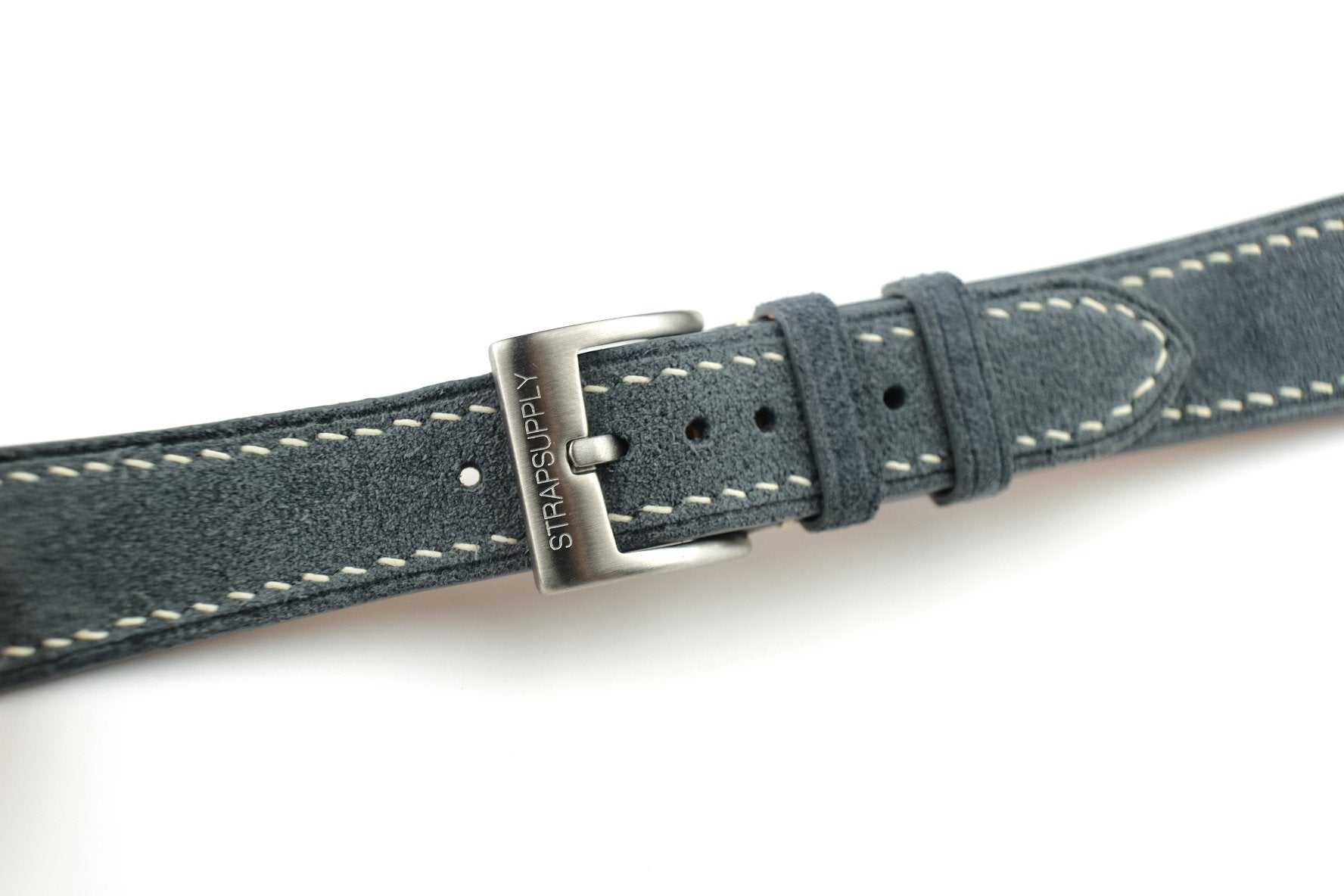 Cool Grey Suede Leather Strap - Artisan Straps