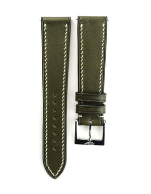 Buttero Italian Calf Leather Strap in Olive Green - Artisan Straps
