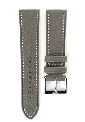Shrunken Calf Leather Strap in Grey - Artisan Straps