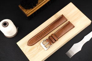 Kangaroo Leather Strap in Whiskey Brown (Padded) - Artisan Straps