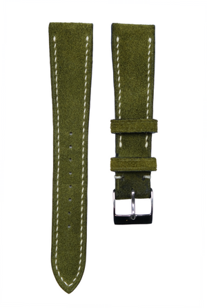 Suede Leather Strap in Olive