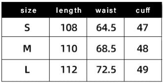 Ardencode Strapped Pants Size Chart