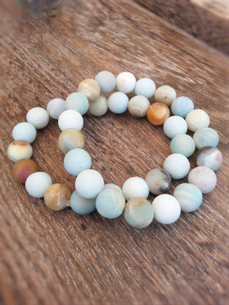 Stretchy Bracelet - Amazonite - Summer Indigo