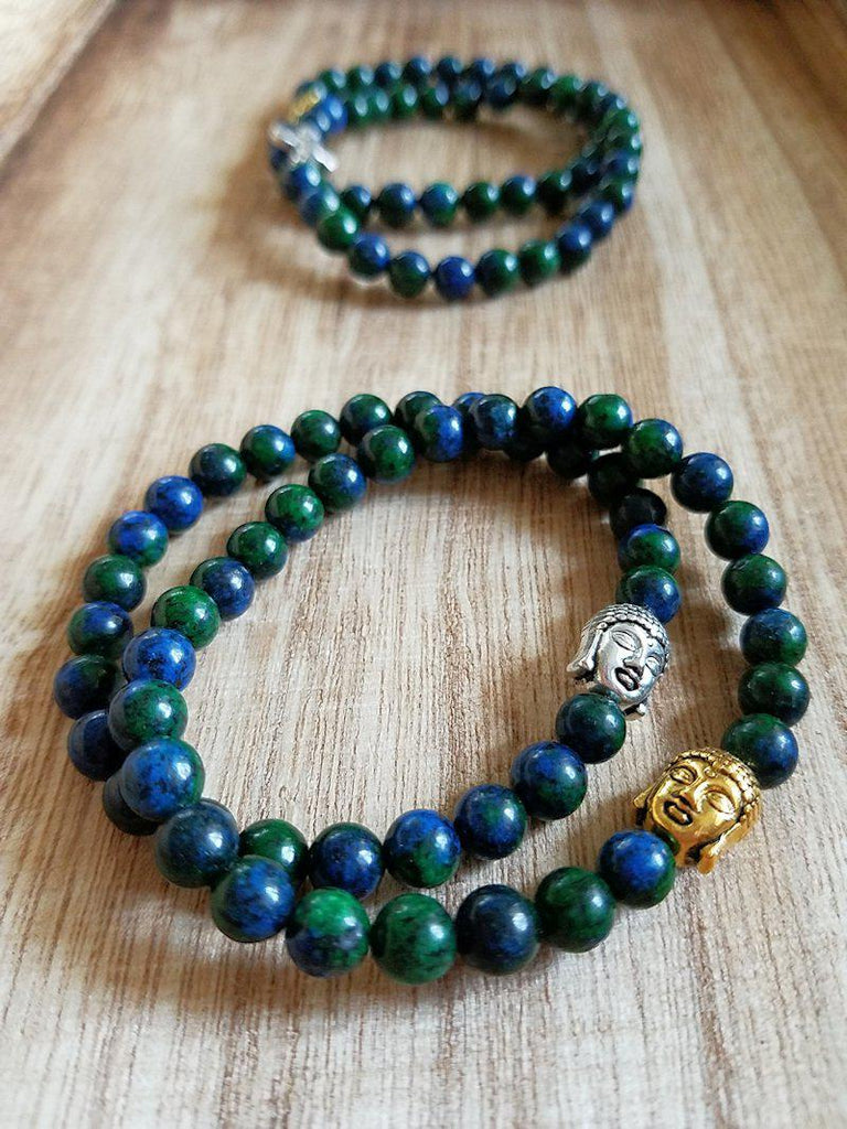 Azurite Bracelets - Made to order - Summer Indigo