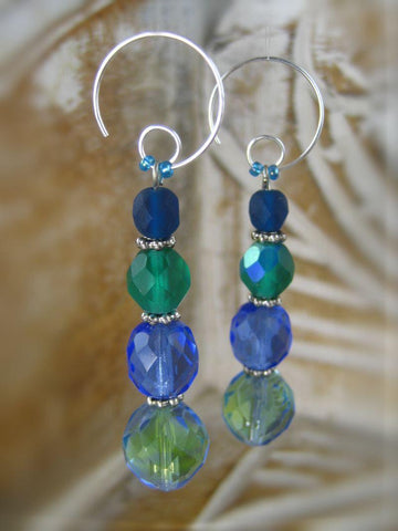 Earrings - Bohemian Rhapsody Collection - Pool - Summer Indigo