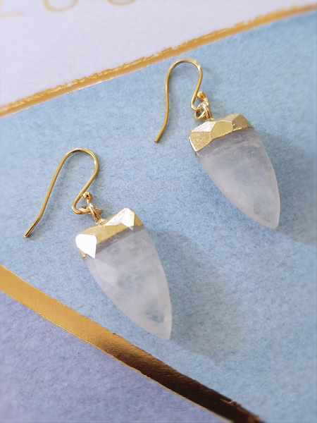 Arrowhead Gemstone Earrings - Summer Indigo