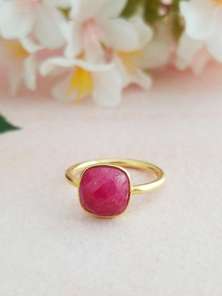 Charming Ruby Ring - Adjustable - Summer Indigo
