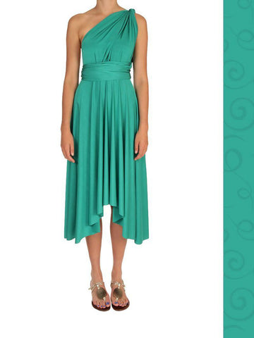Wrap Dress - Midi - Jade Green - Summer Indigo