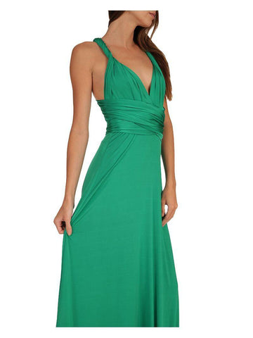 Convertible Magic Dress -  Maxi - Jade Green - Summer Indigo