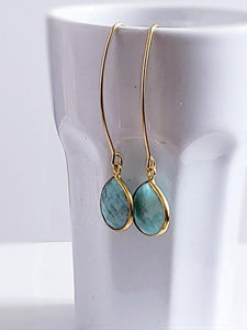 Dangle Earrings - Gemstone Drops - Summer Indigo